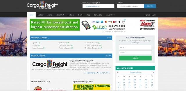 Cargo Freight Exchange Website