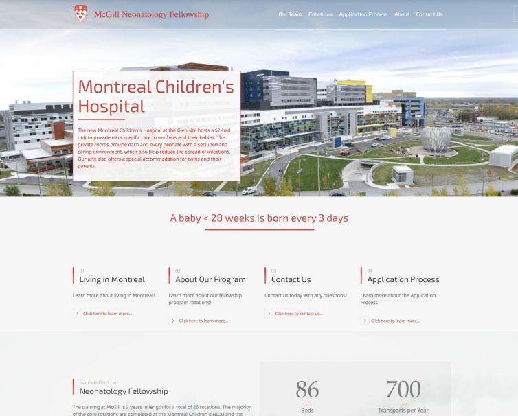 McGill Neonatology Fellowship Program