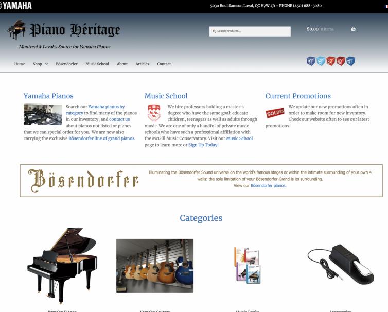 Piano Héritage – Laval, QC